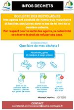 COVID-19 - INFOS DÉCHETS RECYCLABLES